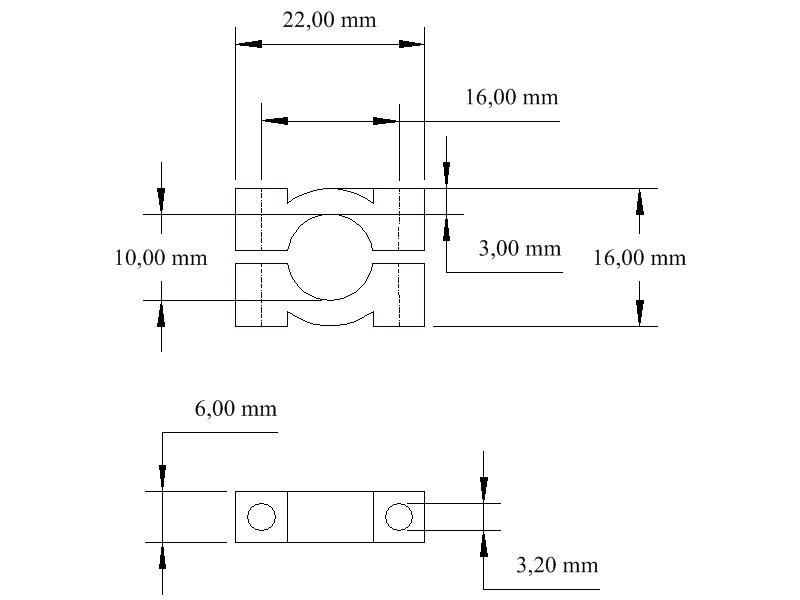 Gut gemocht smartshapes - Rohrschelle 10 mm POM 4er Set LC03