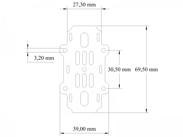 Accessory Plate middle für Rage/Rave